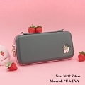 Cool Black Strawberry Nintendo Switch Carrying Case - 10 Game Cards Holding