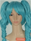 Blue Wig (Medium,Curly,Sierra)