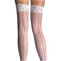 Costume Stockings (White Red 06)