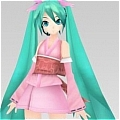 Miku Cosplay Costume (Pink Kimono) from Project DIVA